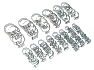 Sealey HCJ85A HI-GRIP® Hose Clip Assortment 85pc Sizes Ø9.5-55mm